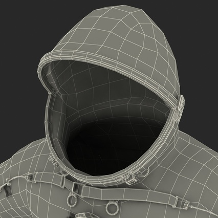 Russian Space Suit Sokol KV2 Rigged. Render 69