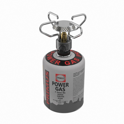 Gas Cylinder with Camping Stove. Render 3