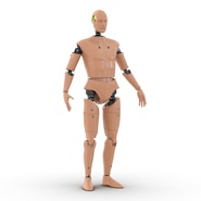 Male Crash Test Dummy Rigged for Cinema 4D. Preview 5