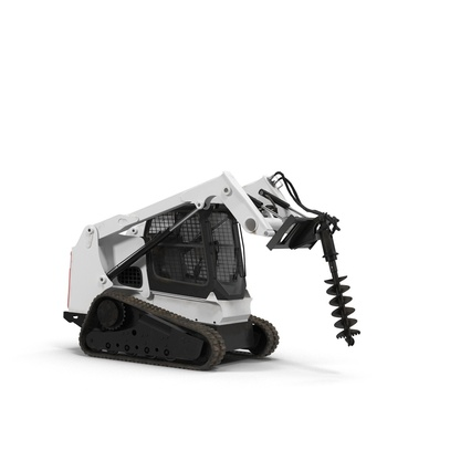 Compact Tracked Loader with Auger. Render 16