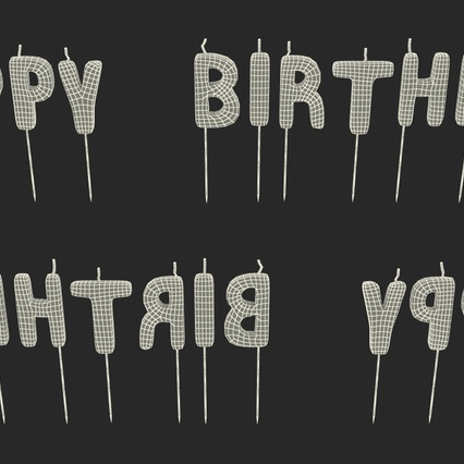 Happy Birthday Candles. Render 16