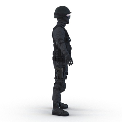 SWAT Man Mediterranean Rigged for Maya. Render 12
