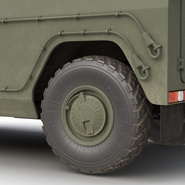 Russian Mobility Vehicle GAZ Tigr M Rigged. Preview 44
