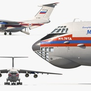 Ilyushin Il-76 Emergency Russian Air Force Rigged. Preview 13
