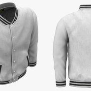White Baseball Jacket. Preview 6