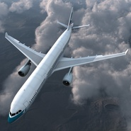 Jet Airliner Airbus A330-300 Cathay Pacific Rigged. Preview 7