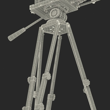 Vintage Video Camera and Tripod. Render 45