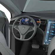 Tesla Model X Rigged. Preview 71