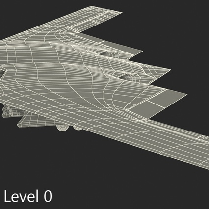 Stealth Bomber B-2 Spirit Rigged. Render 23