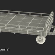 Airport Transport Trailer Low Bed Platform Rigged. Preview 23