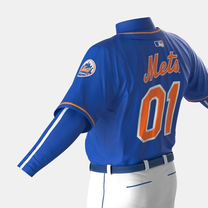 Baseball Player Outfit Mets 2. Render 27