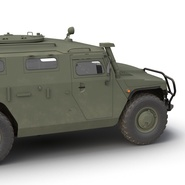 Russian Mobility Vehicle GAZ Tigr M Rigged. Preview 30