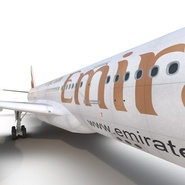 Jet Airliner Airbus A330-300 Emirates Rigged. Preview 46