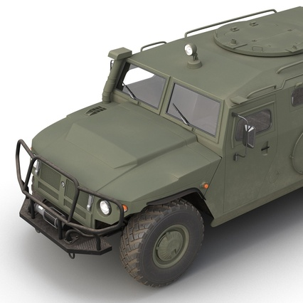 Russian Mobility Vehicle GAZ Tigr M Rigged. Render 29