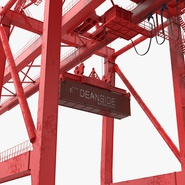 Port Container Crane Red with Container. Preview 20