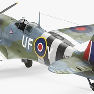Royal Air Force Fighter Supermarine Spitfire LF Mk IX Rigged. Preview 15