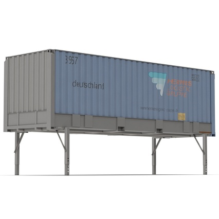 Swap Body Container ISO Blue. Render 5