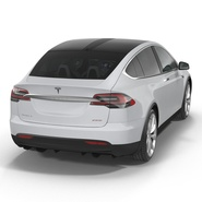 Tesla Model X Rigged. Preview 21