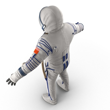 Russian Space Suit Sokol KV2 Rigged. Render 26