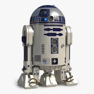 Star Wars Character R2 D2 Rigged