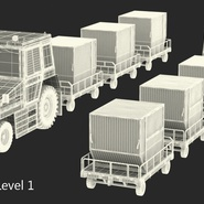Push Back Tractor Hallam HE50 Carrying Passengers Luggage Rigged. Preview 29