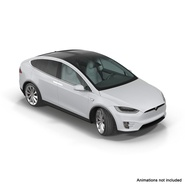 Tesla Model X Rigged. Preview 4