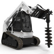 Compact Tracked Loader with Auger. Preview 7