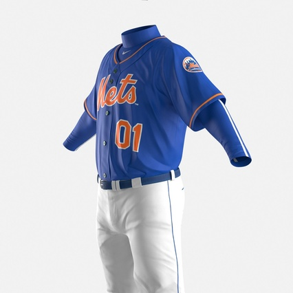 Baseball Player Outfit Mets 2. Render 20