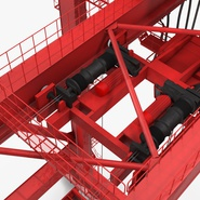 Port Container Crane Red with Container. Preview 30