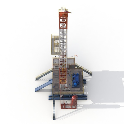 Fracking Gas Platform. Render 17