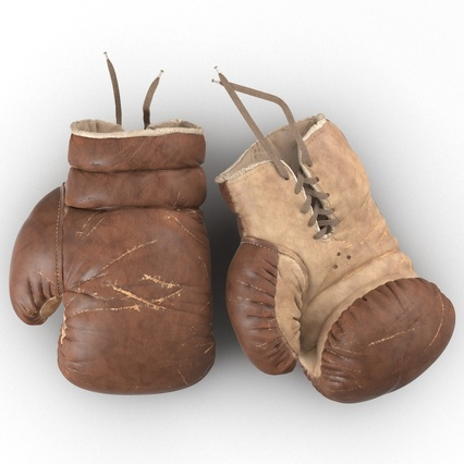Old Leather Boxing Glove(1). Render 10