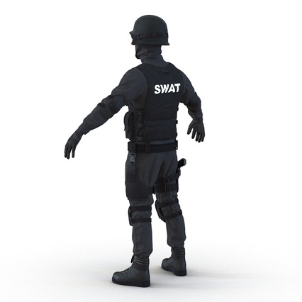 SWAT Man Mediterranean Rigged for Maya. Render 15
