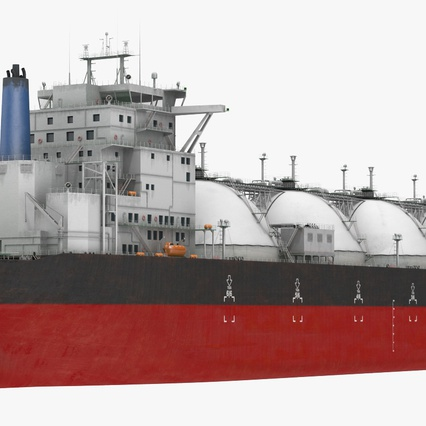 Gas Carrier Ship. Render 12