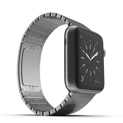 Apple Watch 38mm Link Bracelet Dark Space 2. Render 16