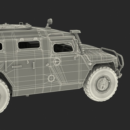 Russian Mobility Vehicle GAZ Tigr M Rigged. Render 81