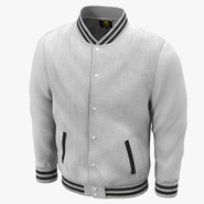 White Baseball Jacket. Preview 2