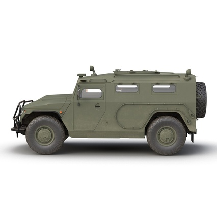 Russian Mobility Vehicle GAZ Tigr M Rigged. Render 15