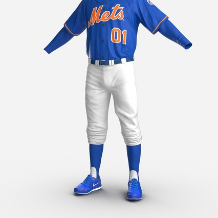 Baseball Player Outfit Mets 2. Render 17