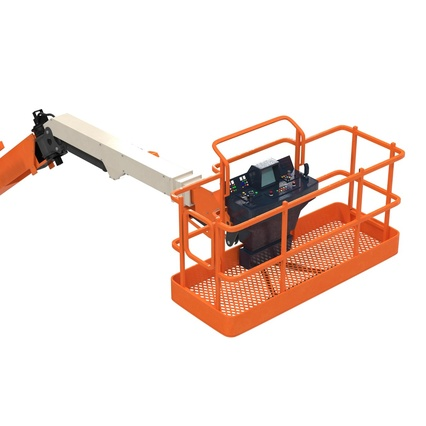 Telescopic Boom Lift Generic 4 Pose 2. Render 50