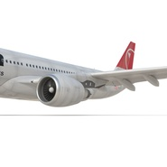 Jet Airliner Airbus A330-200 Northwest Airlines Rigged. Preview 41