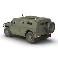 Russian Mobility Vehicle GAZ Tigr M Rigged. Preview 11