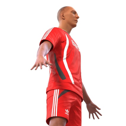 Soccer Player Rigged for Maya. Render 20