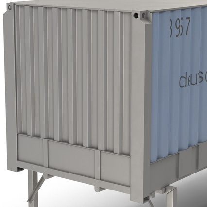 Swap Body Container ISO Blue. Render 19