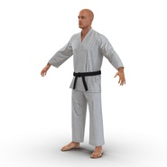 Karate Fighter Rigged for Cinema 4D. Preview 7