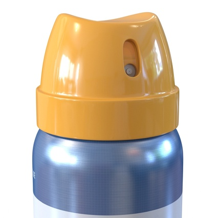 Metal Bottle With Sprayer Cap Generic. Render 11