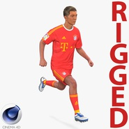 Soccer Player Bayern Rigged 2 for Cinema 4D