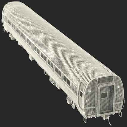 Railroad Amtrak Passenger Car 2. Render 59