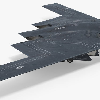 Stealth Bomber B-2 Spirit Rigged. Render 10