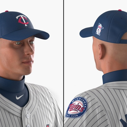 Baseball Player Rigged Twins 2. Render 14