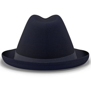 Fedora Hat Blue. Preview 8